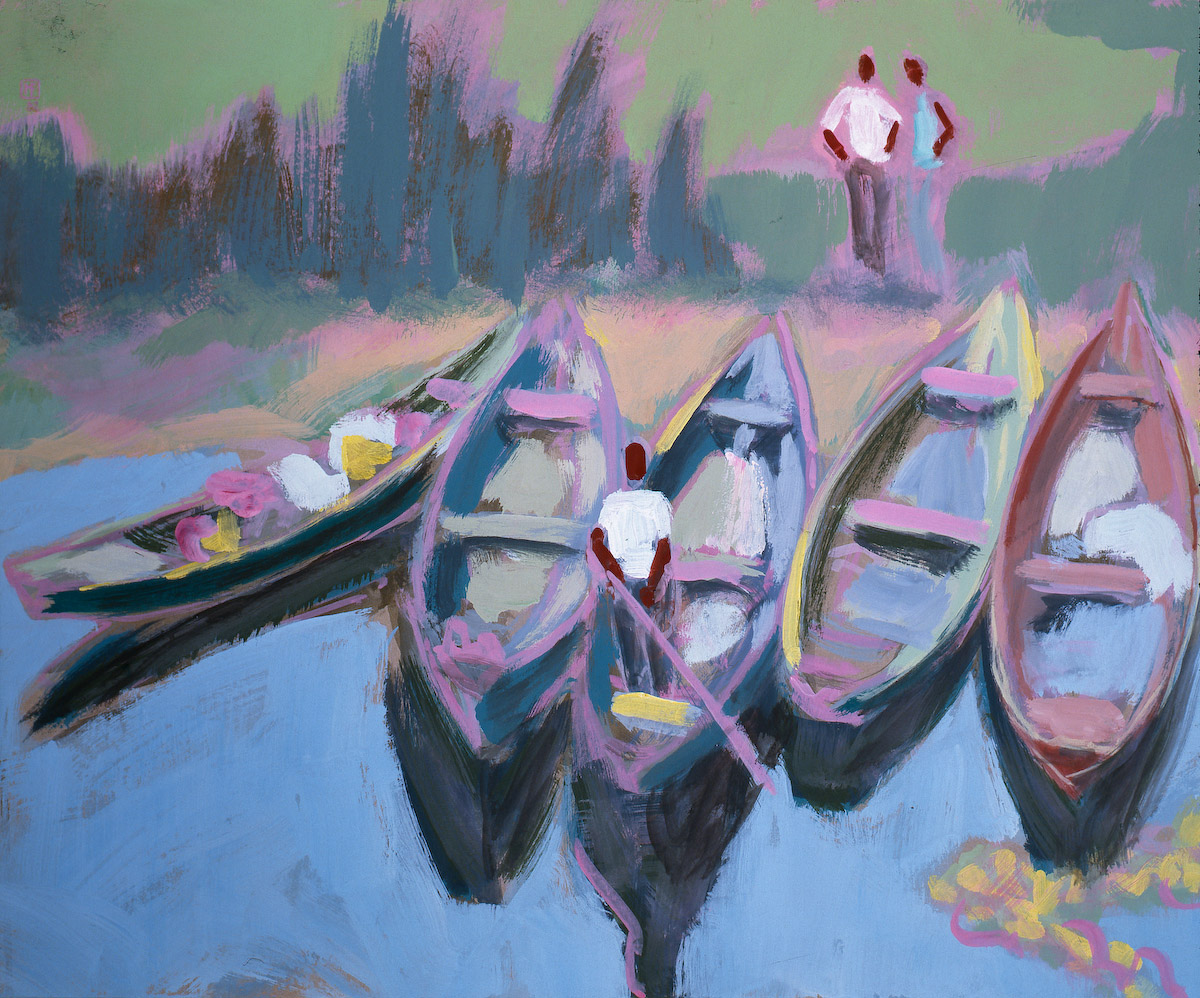 Fünf Boote