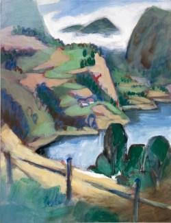 Gehöft am Fjord