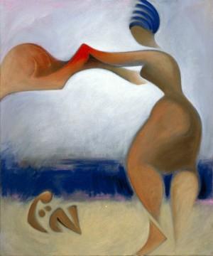 Frau mit Handtuch