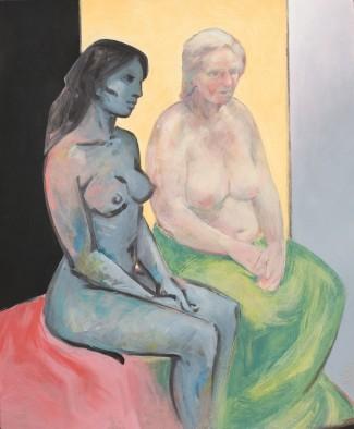 Aktstudie (zwei Frauen)